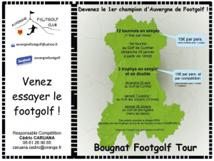 Trophy Footgolf - Dimanche 30 avril 2017